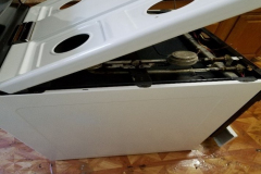 Side of Stove after