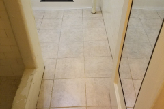 Grout after
